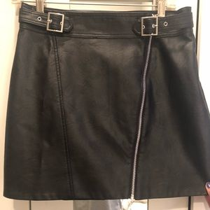 Black, pleather skirt for every day wear